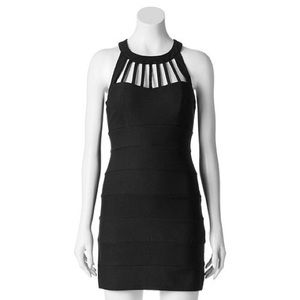 CAGE FRONT BLACK BODYCON DRESS 🖤